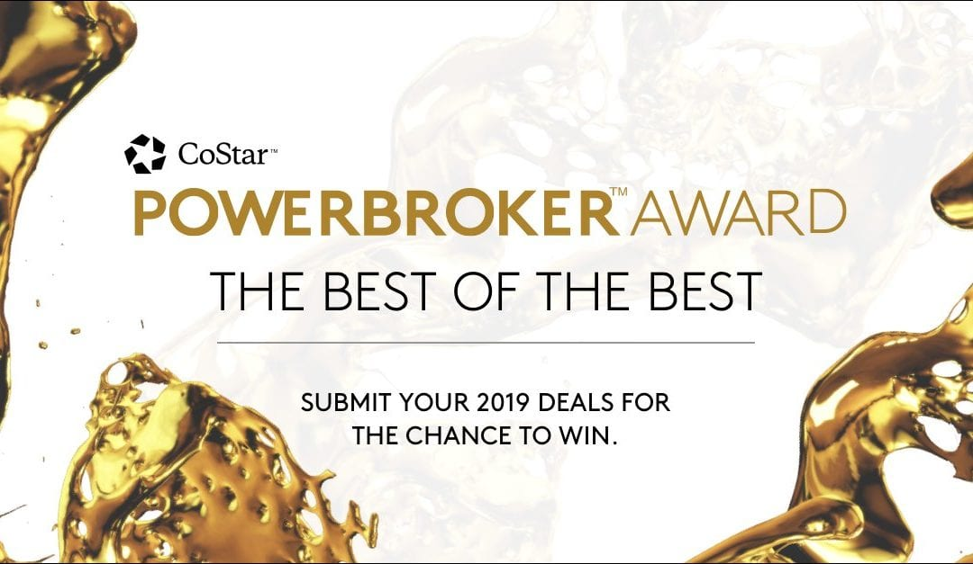 Do you think you closed the highest transaction volume in #CRE sales and leases in your market? Submit deals for the #CoStarPowerBroker Awards by January 15, 2020: https://t.co/91DBSCni7U https://t.co/ilTejWn8fy