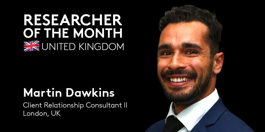 Big congratulations to Martin Dawkins, @CoStarUK's Researcher of the Month!  As a Client Relationship Consultant II, he consiste…