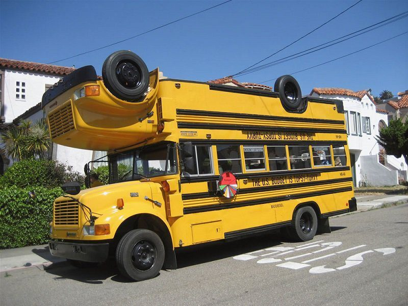 Double Decker Bus gone wrong! Not exactly the right concept, but we can change the oil in our big bays. Get your oil changed. We offer Auto commercial truck repair, oil change, brake service, car wash, front suspension, rear end suspension, air conditioning, engine tune-ups, heating, cooling repair in Quincy, MA Visit All In One Auto Repair and Lube Lab: 645 Washington Street (Rt 3A), in #Quincy #Massachusetts near the Fore River bridge. Oil Change Near Me! Fastest #OilChange in #QuincyMA #Massachusetts No students were hurt making this Instagram post.