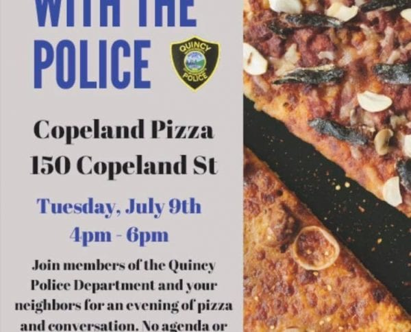 Join us for Pizza With The Police on Tuesday, July 9th from 4pm-6pm at Copeland Pizza, 150 Copeland St. #PizzaWithThePolice https://t.co/qwDT1araRj