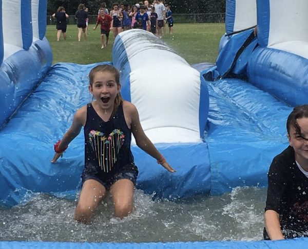Students at the DARE Camp got a welcome surprise yesterday when the @CityofQuincy Recreation program had finished with the water slides! 💦 https://t.co/HnWwcAub8x